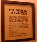 Image for Wine Growing at the Mission  - Mission Hills, CA
