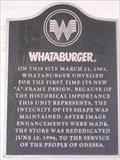 "Image for First Whataburger ""A"" Frame Design, Odessa TX"