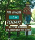 Image for Smokey Bear Sign - Waterloo Village, New Jersey