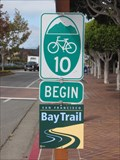 Image for Beginning of Cycling Route 10 - Tiburon, CA