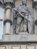Image for Monarchs – King Henry V of England on side of city hall - Bradford, UK