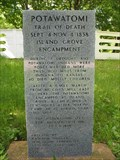 Image for Potawatomi Trail of Death marker - Island Grove, New Berlin, IL