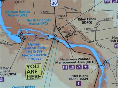 Hagerman Idaho Map.Upper Salmon Falls Hydroelectric Project Idaho You Are Here