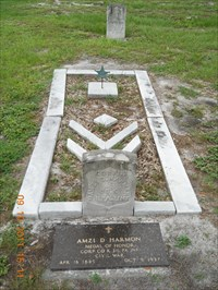 Final resting place of Cpl. Amzi Davis Harmon, Medal of Honor recipient.