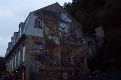 a mural in  qc