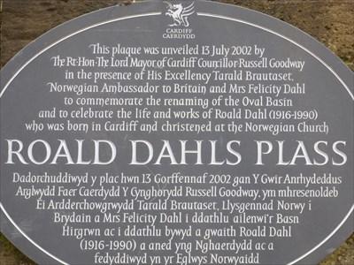Roald Dahls Plass - Historic Marker.