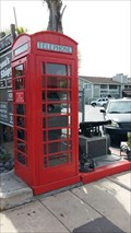 Image for Larson's Shipyard Red Telephone Box - Newport Beach, CA
