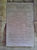 Image for War memorial, SS.Peter & Paul's Church, Chacombe, Northants.