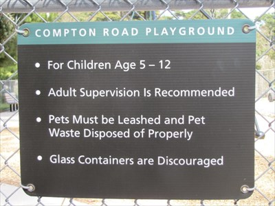 Compton Road Playground Sign, San Francisco, CA
