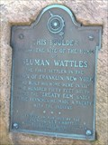 Image for Sluman Wattles, First Settler - Franklin, NY