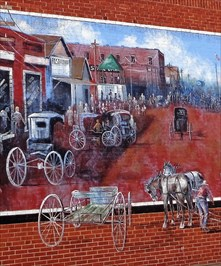 Historic Route 66 - Davenport Broadway Mural