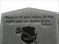 Image for Matthew 5:9 - Peace Officer Memorial - Sapulpa, OK
