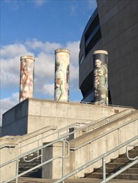 Setting of Three Columns, Autzen Stadium, Eugene, Oregon