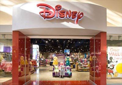 The Entrance for The Disney Store Outlet at Great Lakes Crossing Outlet Mall Shopping Centre.