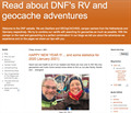 Image for Camper and geocaching adventures of DNF