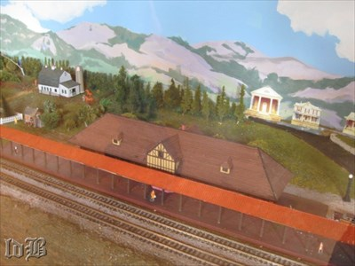 The miniature Luray Train Depot