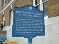 Image for Independence County Office and Library marker - Batesville, Ar.