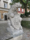 Image for Bear with shield with Gorgona head - Warsaw, Poland