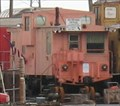 Image for Pink extended vision caboose - TRRA Gateway Rail Services Storage Yard, Madison, IL
