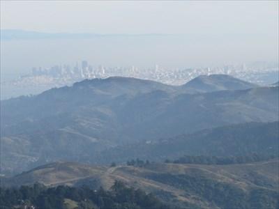 City of San Francisco past the Marin Hills, Marin County, CA