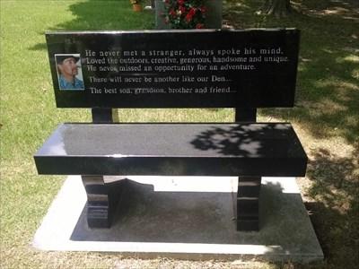 Dennis Wayne Caudle dedicated bench, by MountainWoods