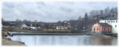 Dráchovský jez na řece Lužnici