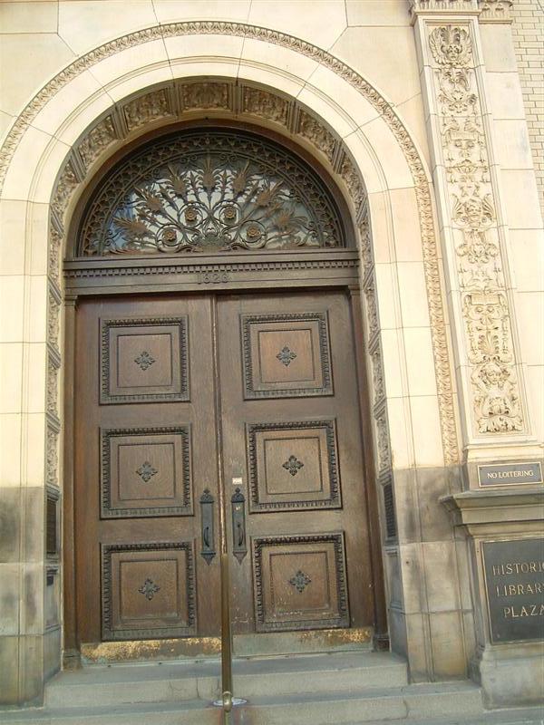 & Omaha Public Library Door