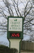 Image for Chariton Abstract & Title Co, Time & Temp. - Keytesville, MO