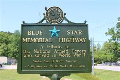 Restored Blue Star Marker
