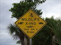 Image for Wildlife X-ing Sign - Merritt Island, Florida, USA