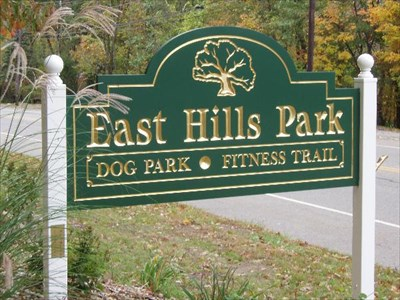 Livingston Dog Park, located in Cedar Hills Park.