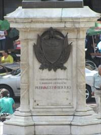 Pedrojust Berrio Statue Base, Medellin, Colombia