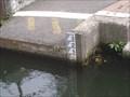 Image for River Medway Depth mark, Allington, Kent. UK