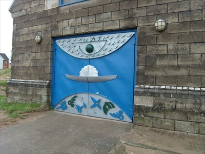 The Boathouse Doors - Swansea - Wales.