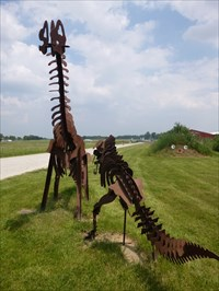 Steel Dino Sculptures - Tecumseh, Michigan