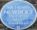 Image for Sir Henry Newbolt - Campden Hill Road, London, UK