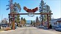 Image for City of Eagles Entrance Arch Eagle - Libby, MT