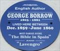 Image for George Borrow - Trafalgar Road, Great Yarmouth, UK