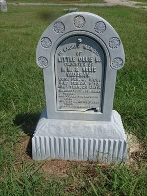 Zinc headstone