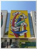 """Image for Mosaïque """"Les oiseaux sur fond jaune"""" - Heidi Melano - Biot, Paca, France"""