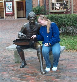 Sit by me statue of Thomas Jefferson