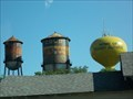 "Image for Hot, Cold, and ""Home of Woody Guthrie"" Water Towers - Okemah, OK"