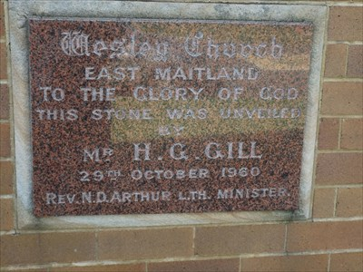 The Dedication Stone, of 29th October, 1960