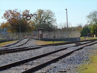 Summerville GA Turntable - Active Rail Locations on