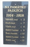 Image for Predborice WW I Plaque