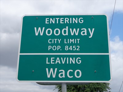 Woodway, TX - Population 8452 - Population Signs on