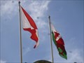 Image for HSBC - Group - Coporate Flag - Cardiff, Wales, Great Britain.