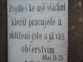 Image for Holy Bible - Mat. 11.28. - Brno, Czech Republic