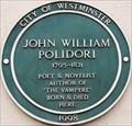Image for John William Polidori - Great Pulteney Street, London, UK