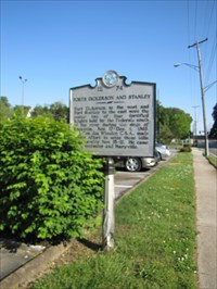 TN Marker 1E 74, North Side, Knoxville, Tennessee